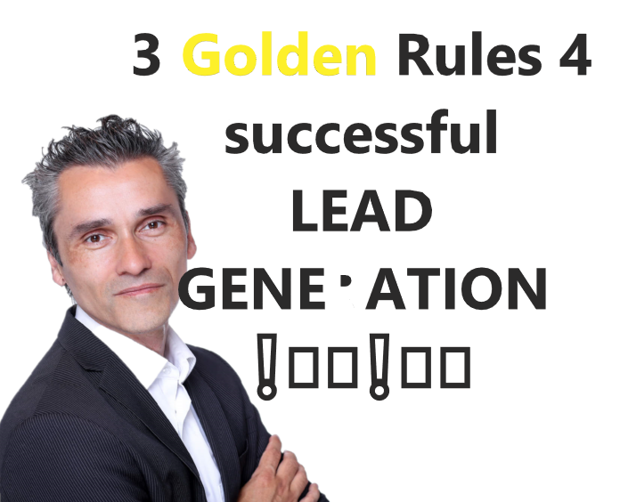 THE 3 GOLDEN RULES for a successful!